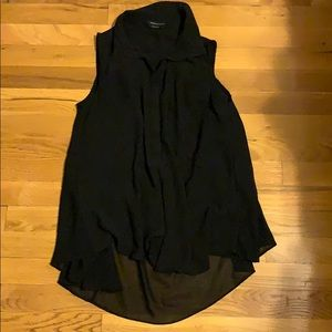 BCBGMaxAzria Black Sleeveless Blouse
